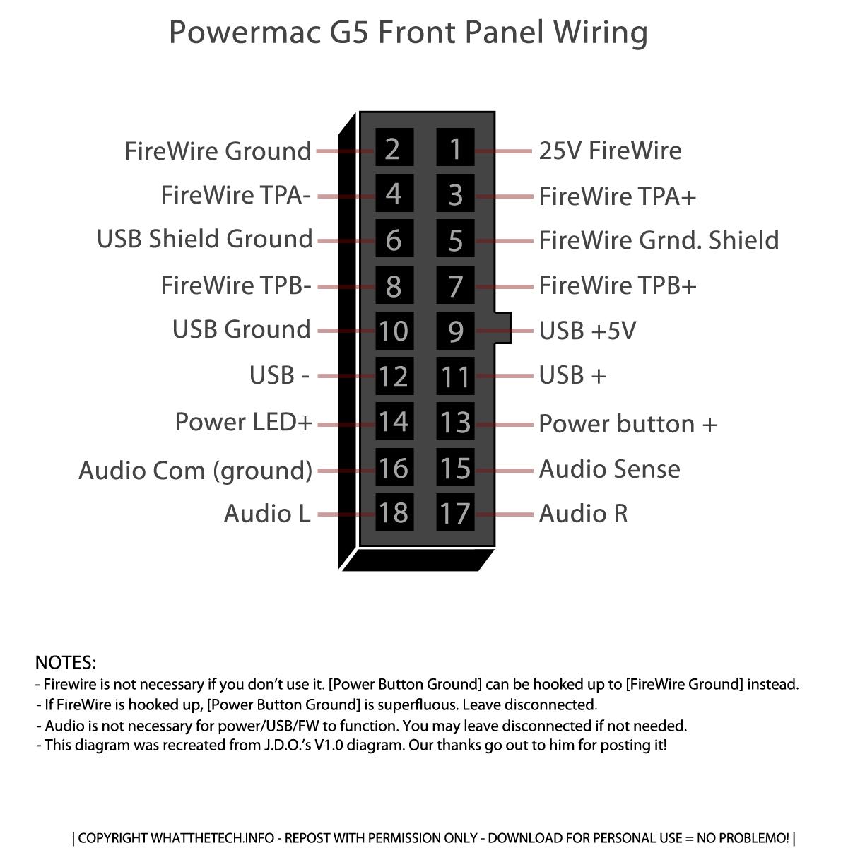 Power Mac G5 Fan Wiring Diagram