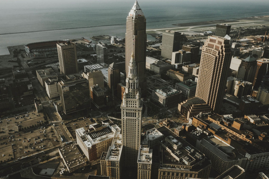 Cleveland City Skyline from Above