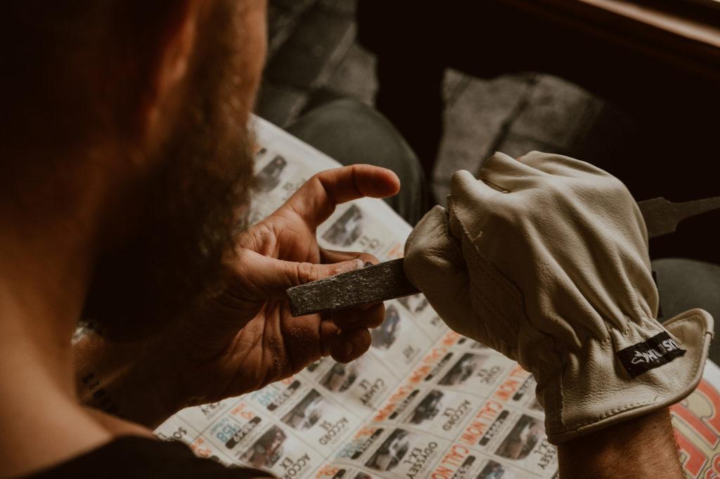 Artisan Jeweller Filing by Hand