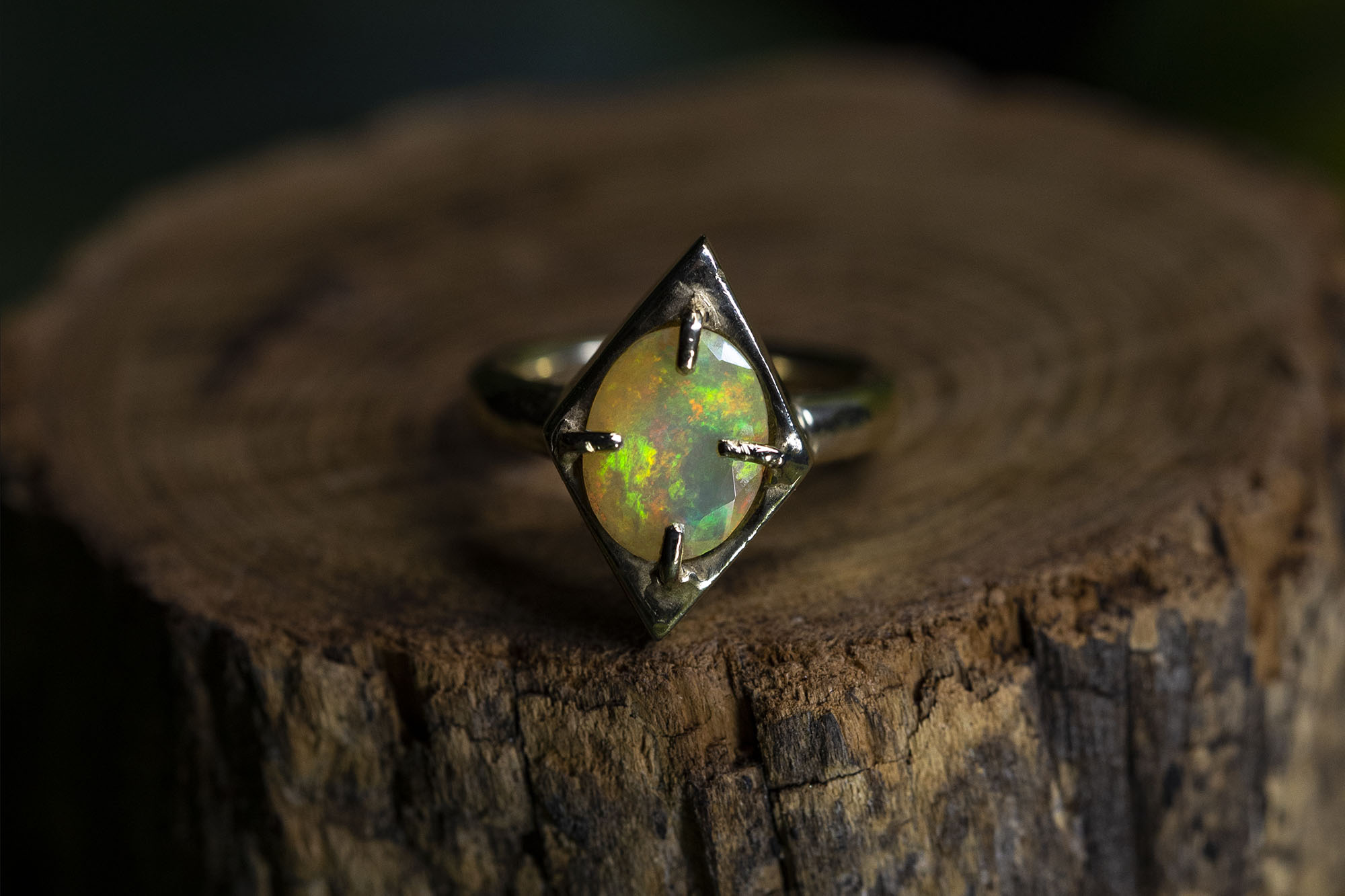 Hand Made Opal Ring