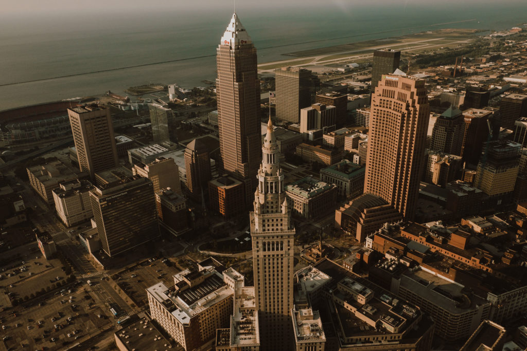 Downtown Cleveland Aerial Photo